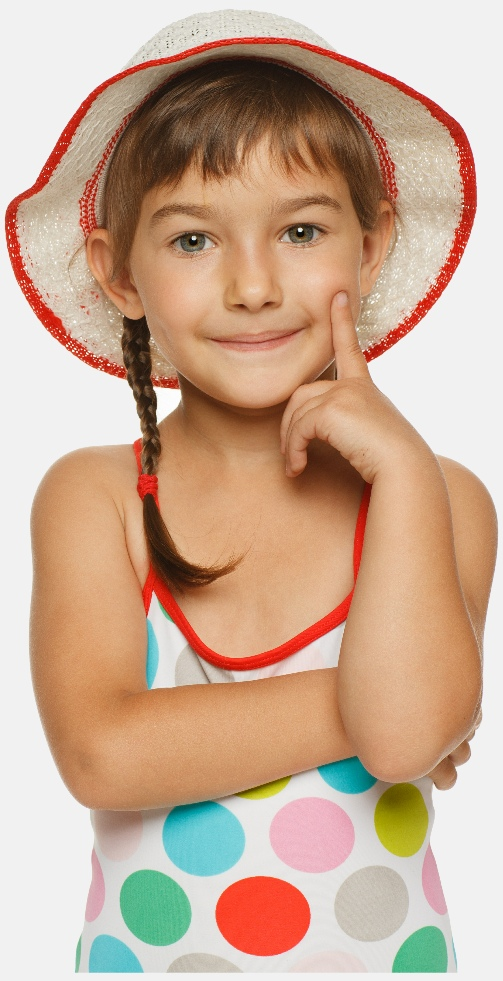 Little girl ready to embark on a French Immersion curriculum