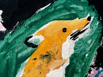 Painting of a fox at Ma Classe Learning Centre